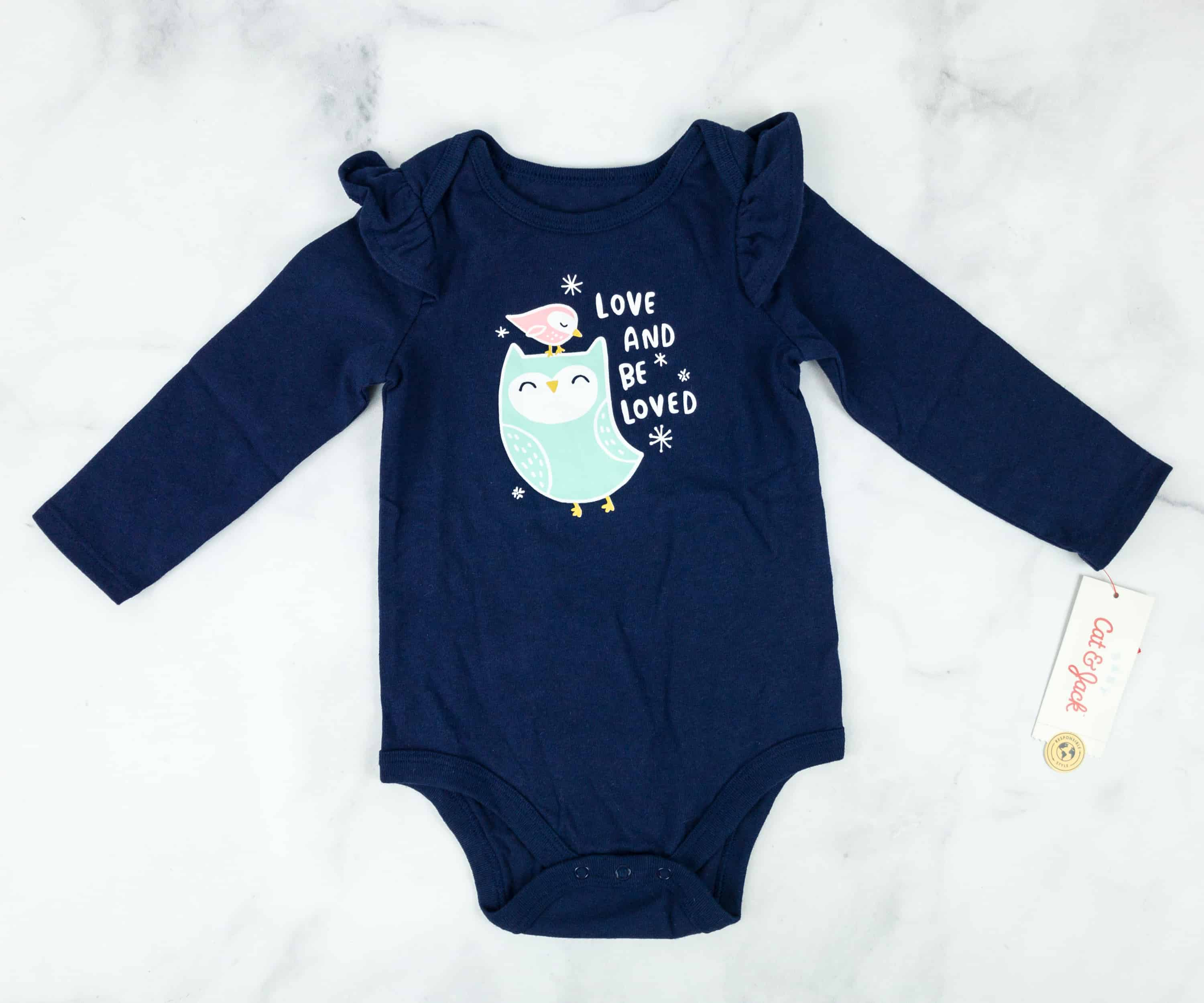960317f6ba20 Cat   Jack Baby Girl s Loved And Be Loved Bodysuit. It s a blue bodysuit