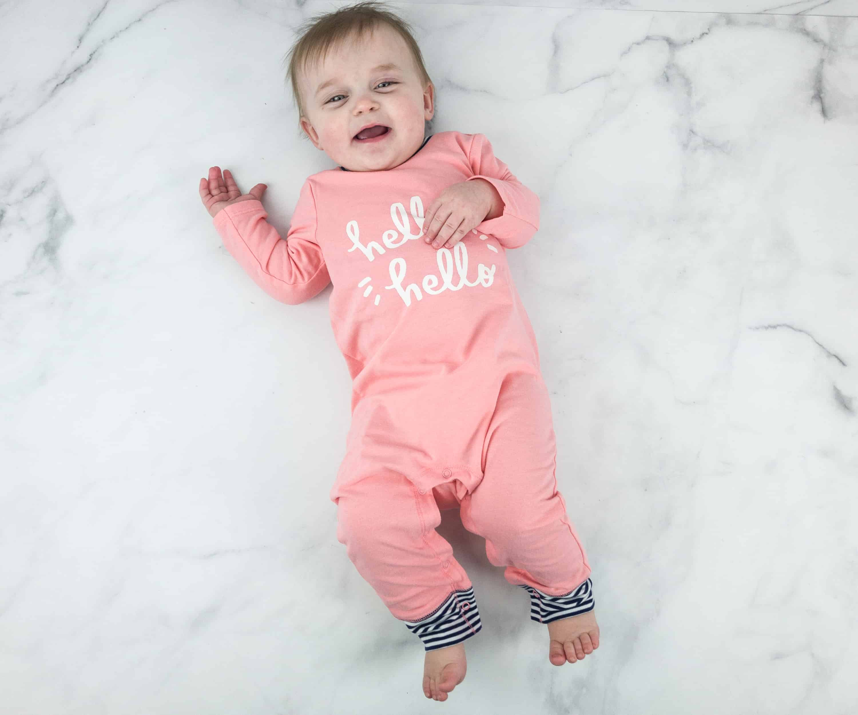 6b11e7f2b0e6 Who looks snug as a bug in her onesie  I like the fit of this one-piece on  her because there is enough room for her to grow. If the temperature drops