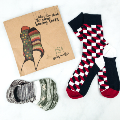 Socks Matter December 2018 Subscription Box Review + Coupon