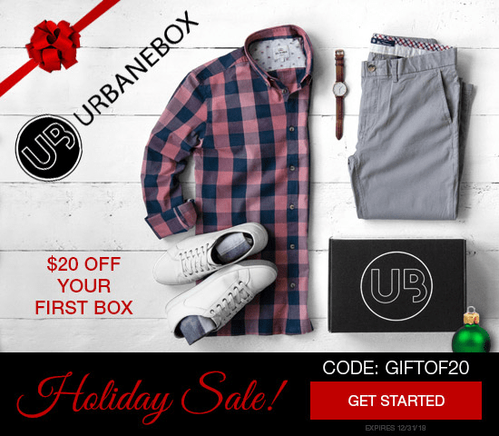 UrbaneBox Holiday Coupon: Get $20 Off Your First Box!