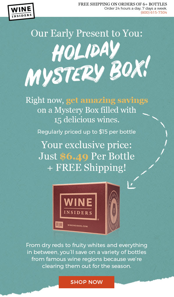 Wine Insiders Holiday Mystery Box Available Now!