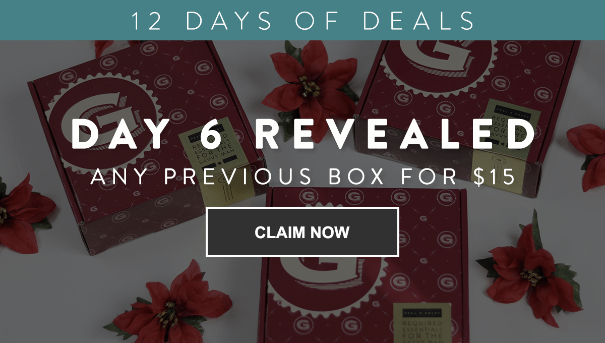 Gentleman's Box Coupon: Get Previous Boxes for $15 Each – Today ONLY!