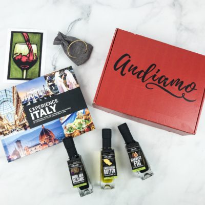 Andiamo December 2018 Subscription Box Review + Coupon