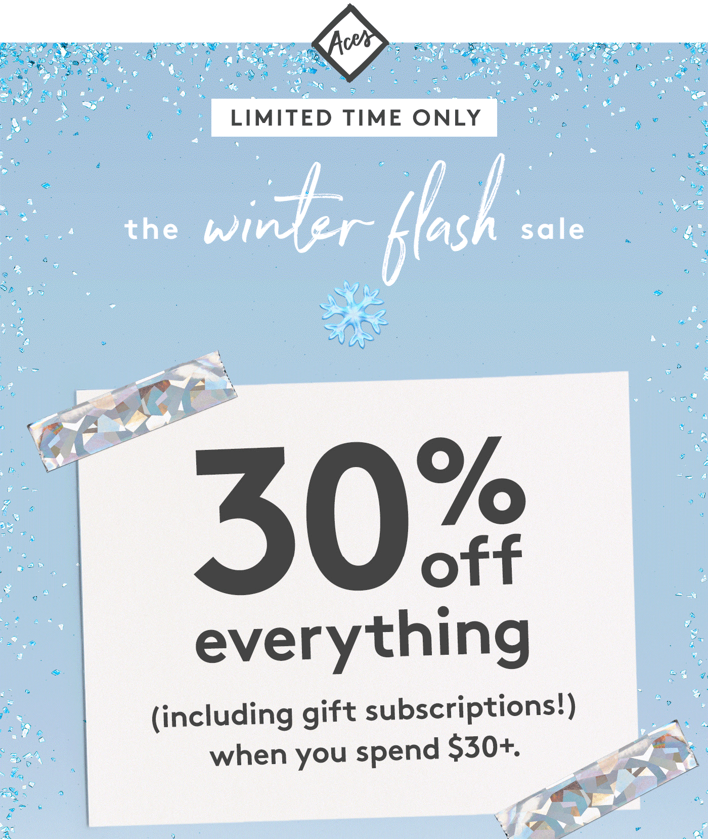 Birchbox Winter Flash Sale: ACES Save 30% Off Sitewide!