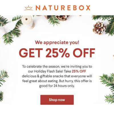 Naturebox Sale: Save 25% Off Sitewide!