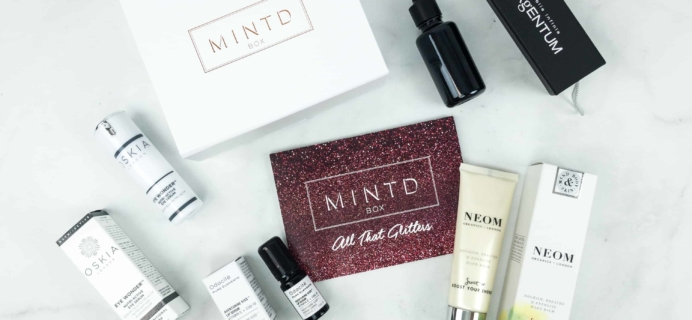 MINTD Box December 2018 Subscription Box Review + Coupon!
