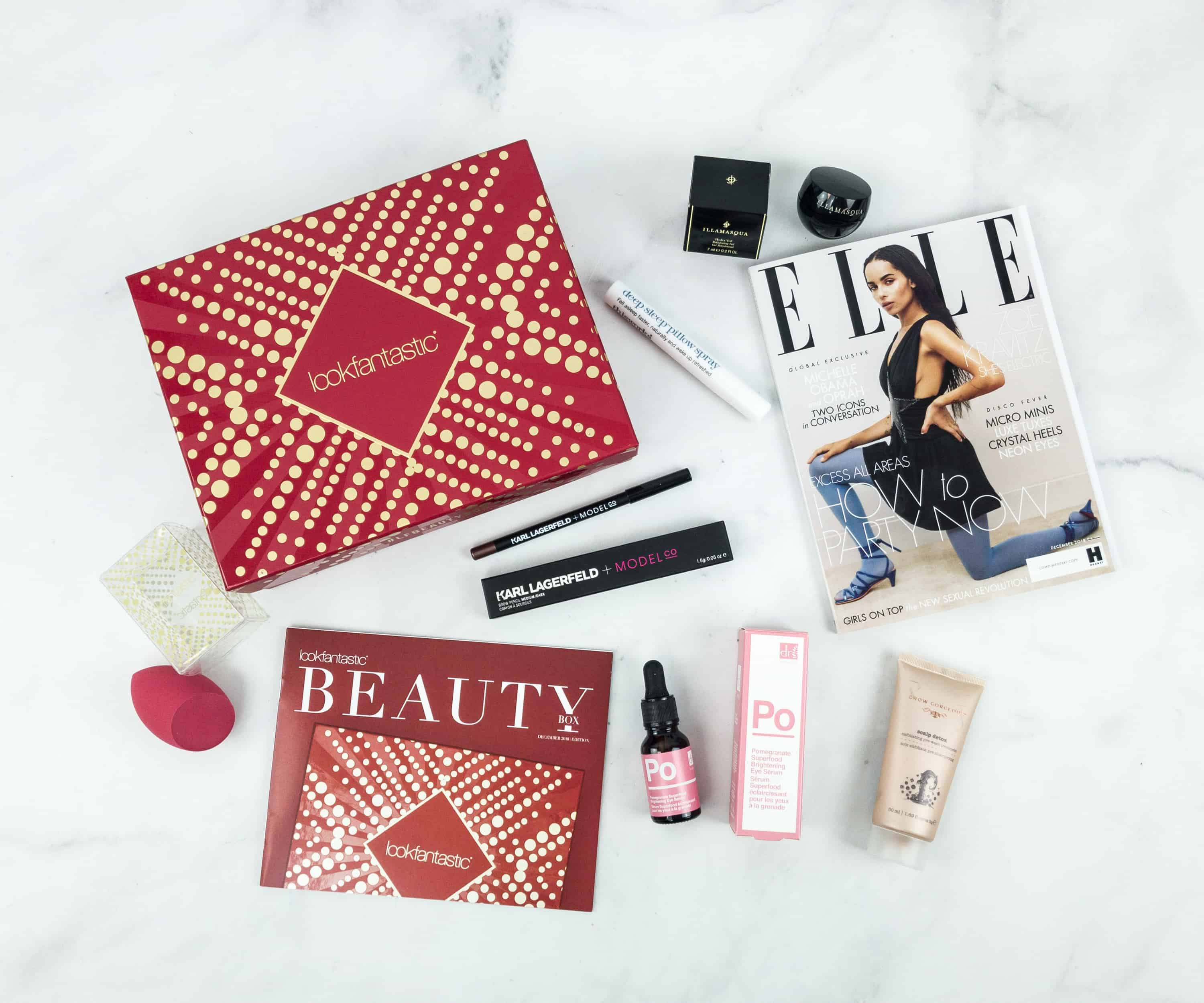 Look Fantastic Beauty Box December 2018 Subscription Box Review