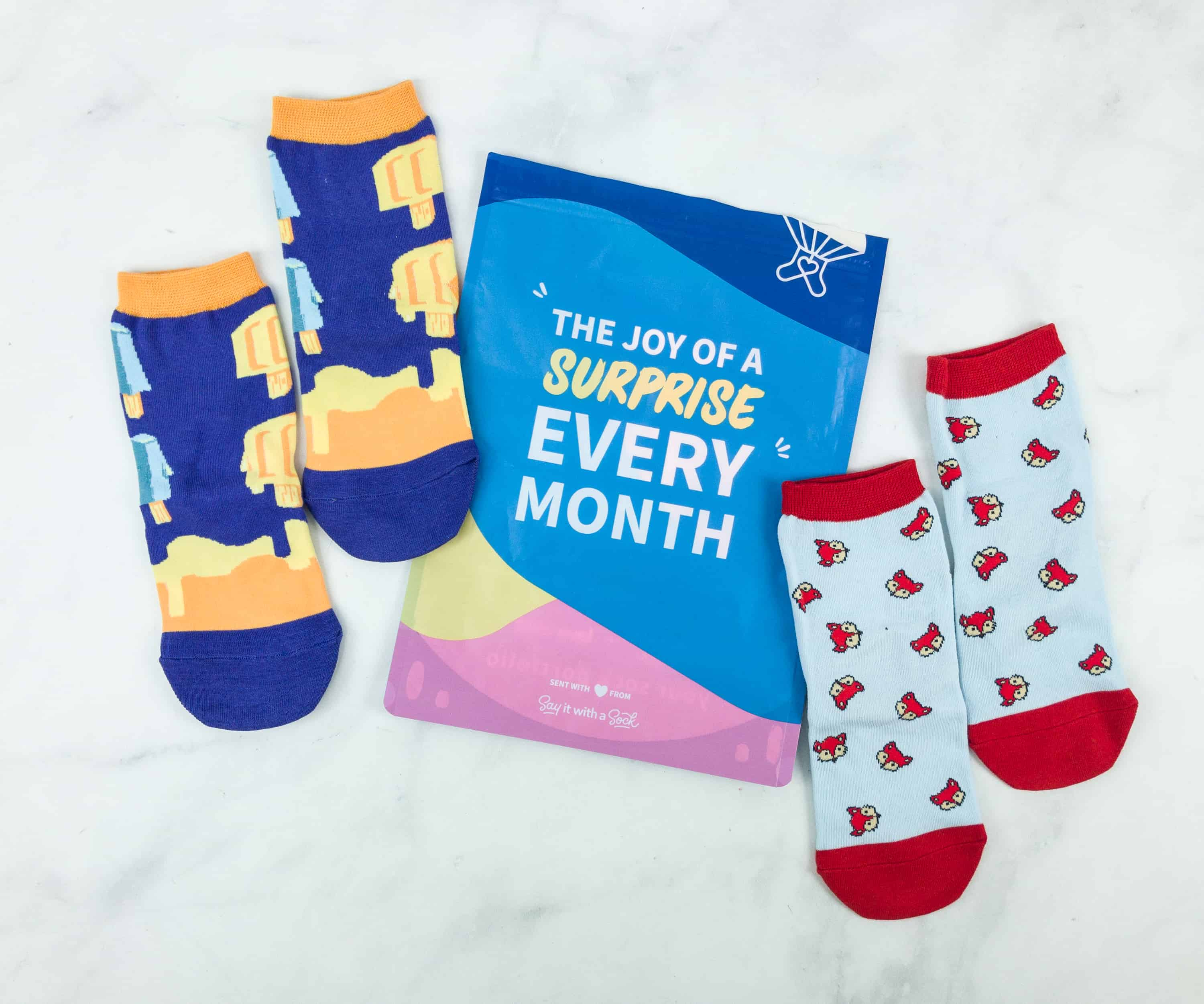 Say It With A Sock December 2018 Kids Sockscription Review & Coupon – Girls