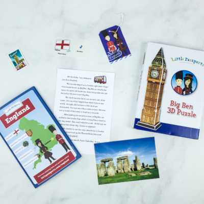 Little Passports World Edition Subscription Box Review + Coupon – ENGLAND