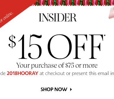 LAST CALL for the Sephora Holiday Sale! Save $15 (more for VIB & Rouge!)