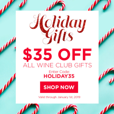PLONK Holiday Coupon: Save $35 On All Wine Club Gifts!