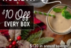 SmoothieBox Holiday Coupon: Get $10 Off For Life!