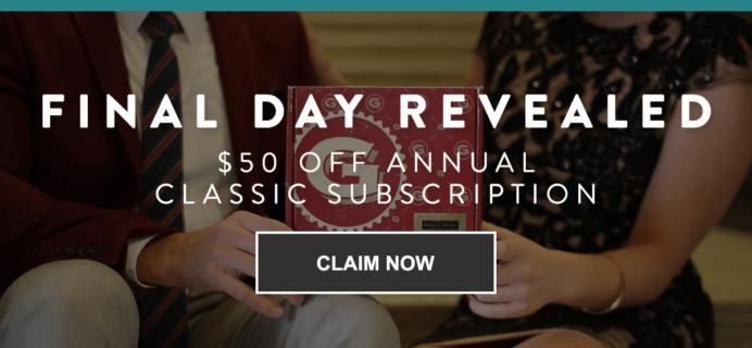 Gentleman's Box Coupon: Get $50 Off On Annual Subscription!