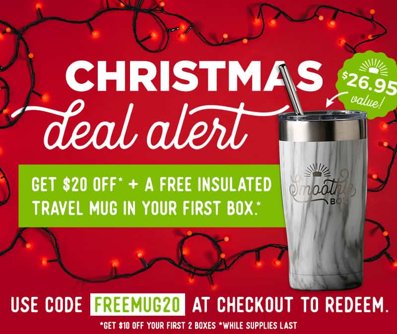SmoothieBox Holiday Sale: Get $20 Off on Boxes + FREE Mug!
