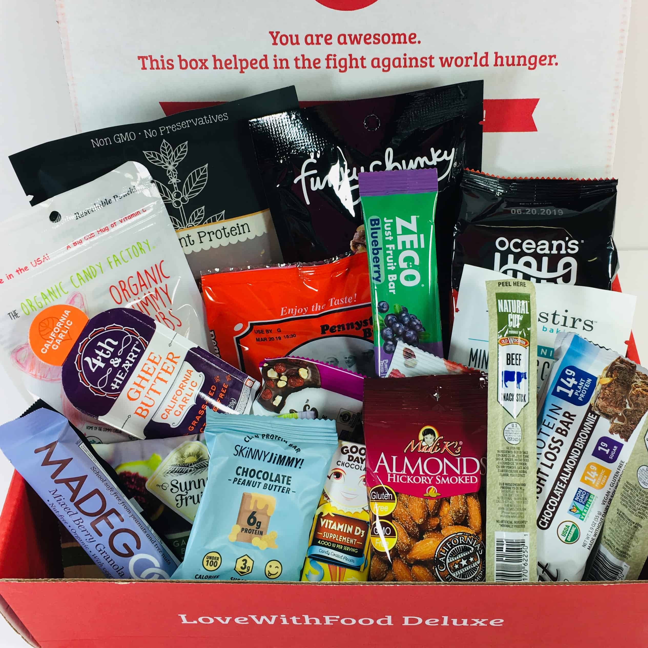 Love With Food December 2018 Deluxe Box Review + Coupon!