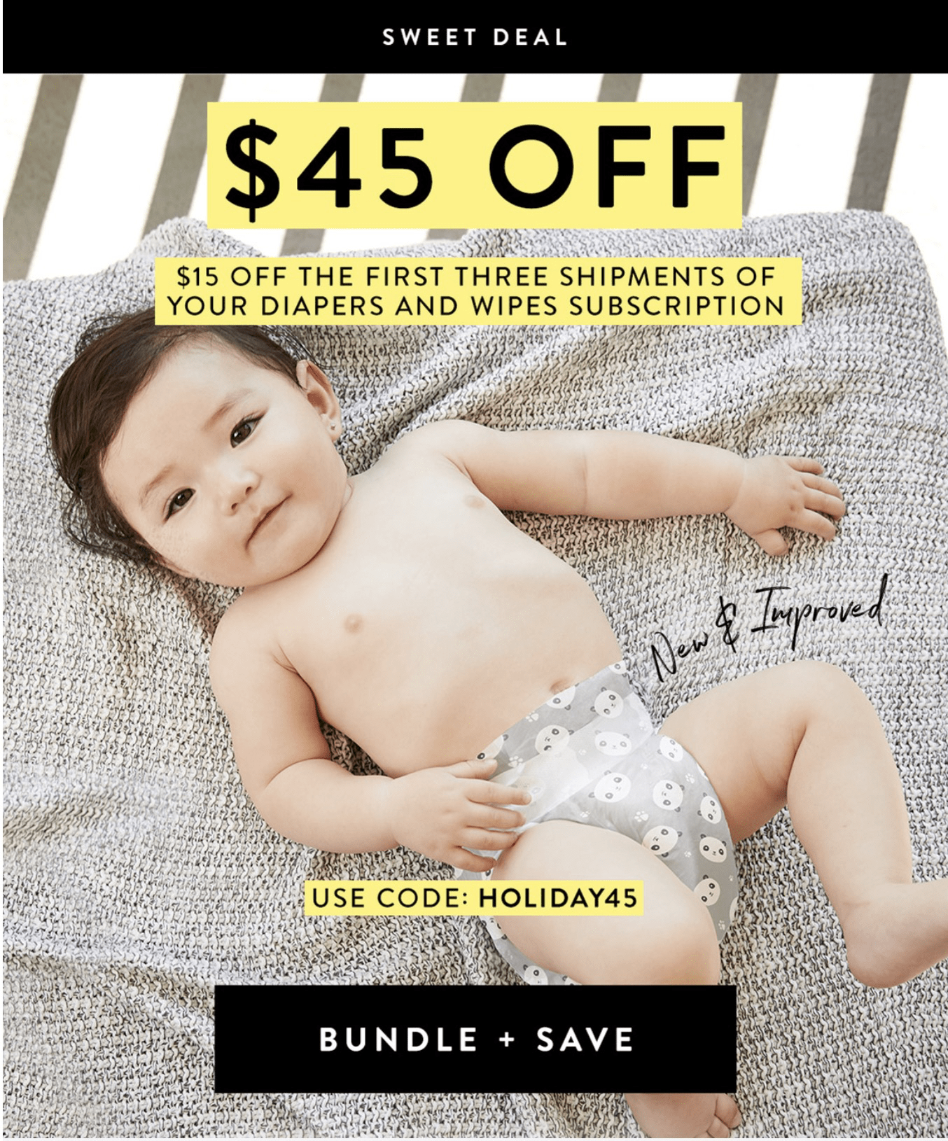 Honest Company Diaper Bundle Coupon: Save $45 with $15 Off First Three Bundles!