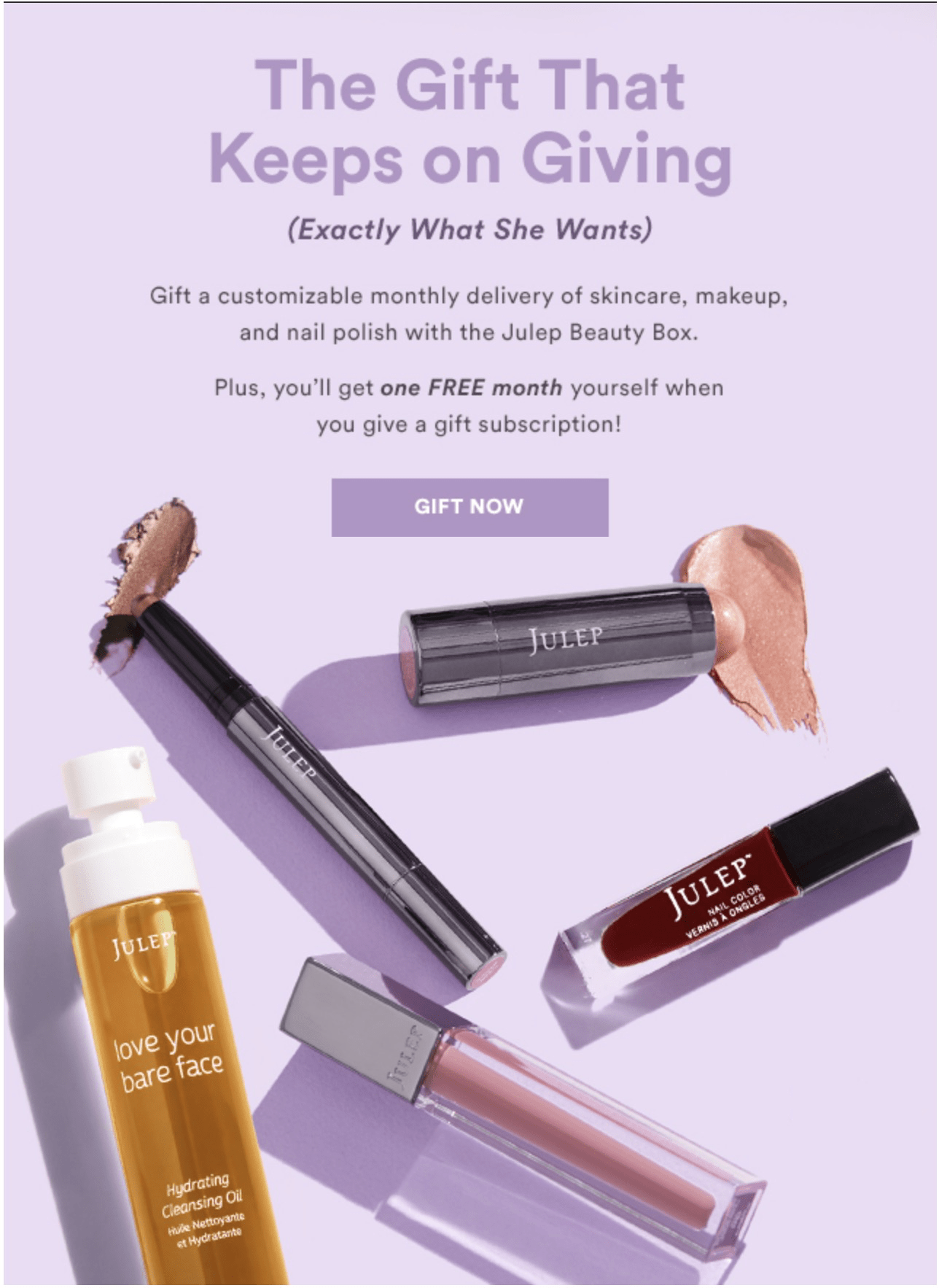 Julep Gift Deal: Give a Gift and Get a FREE Month for You!