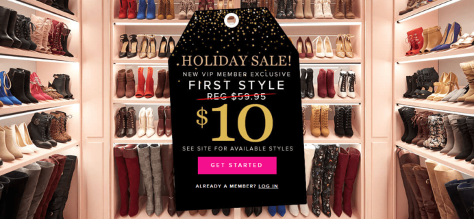 Shoedazzle Holiday Sale: Get Your First Style For Only $10!