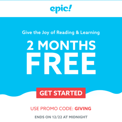 Epic! Kids Books New Year 2019 Coupon: Get 2 Months FREE!