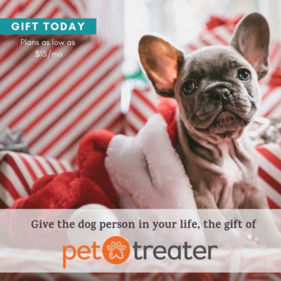 Pet Treater Last Minute Gift Ideas: Gift a Dog or Cat Pack for as low as $15!