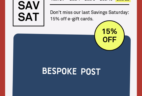 Bespoke Post Flash Sale: 15% Off Gift Cards EXTENDED!