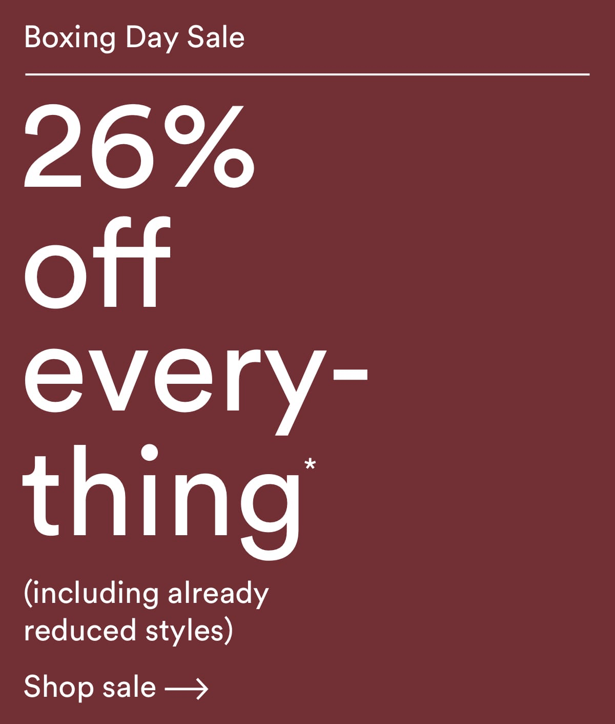 Frank And Oak Cyber Boxing Day Sale 26% Off Sitewide!