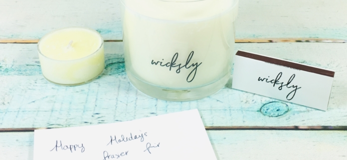 Wicksly December 2018 Subscription Box Review