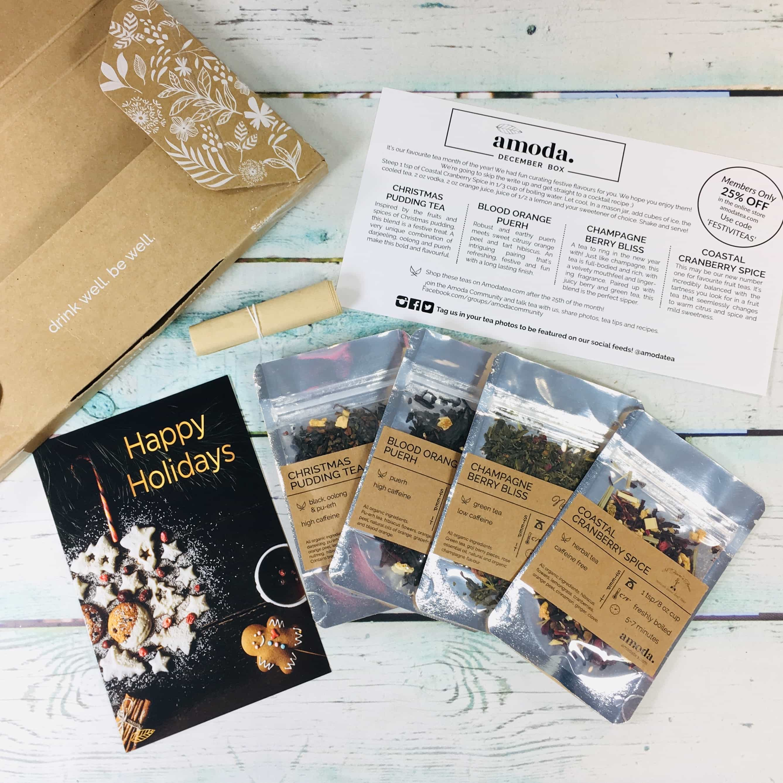 Amoda Tea December 2018 Subscription Box Review + Coupon!