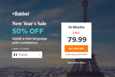 Babbel New Year Sale: Get 50% Off 24-Month Subscription!