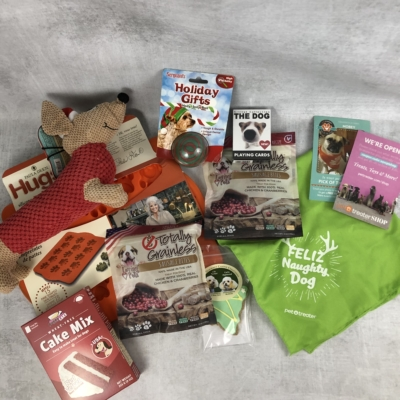 Pet Treater Deluxe Dog Pack Subscription Box Review + Coupon – December 2018