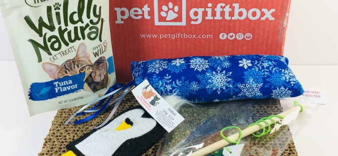 PetGiftBox Cat December 2018 Subscription Box Review + 50% Off Coupon