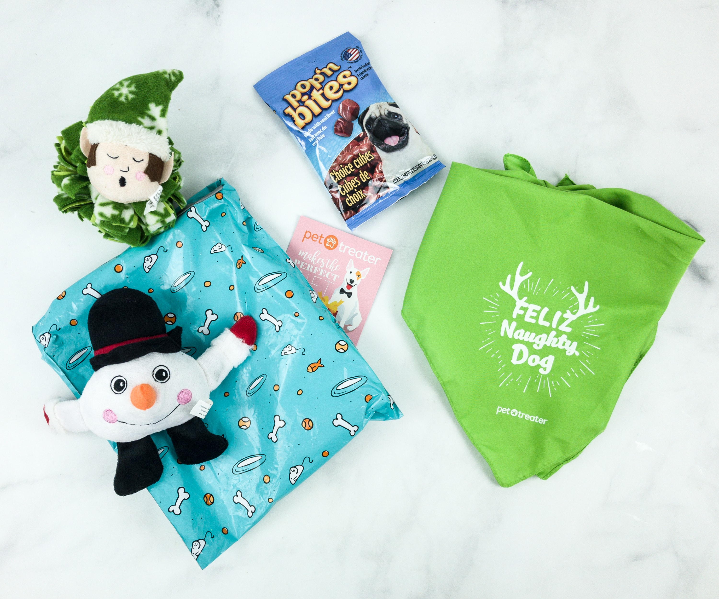 Pet Treater Dog Pack December 2018 Subscription Box Review + Coupon!