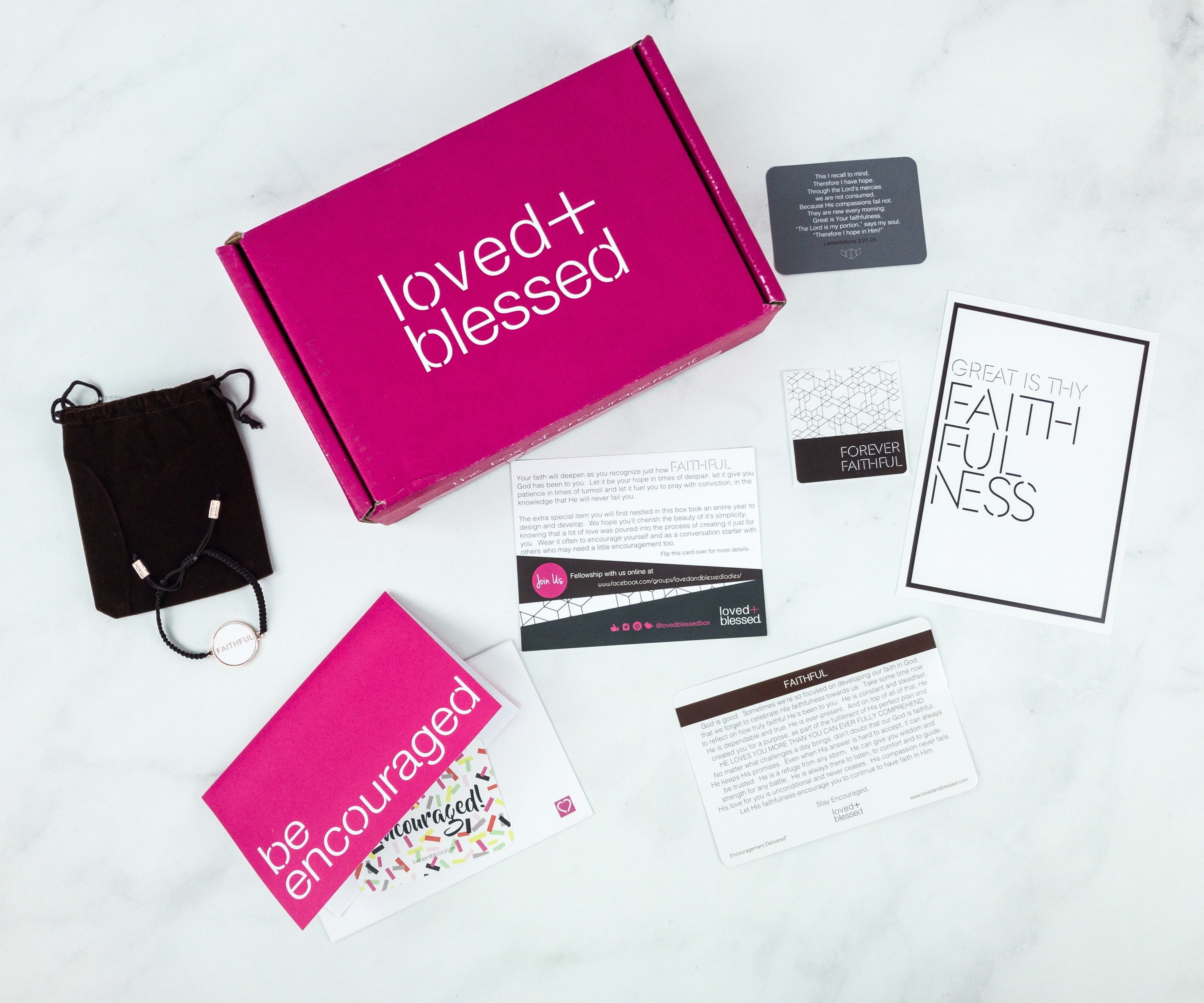 Loved+Blessed January 2019 Subscription Box Review + Coupon