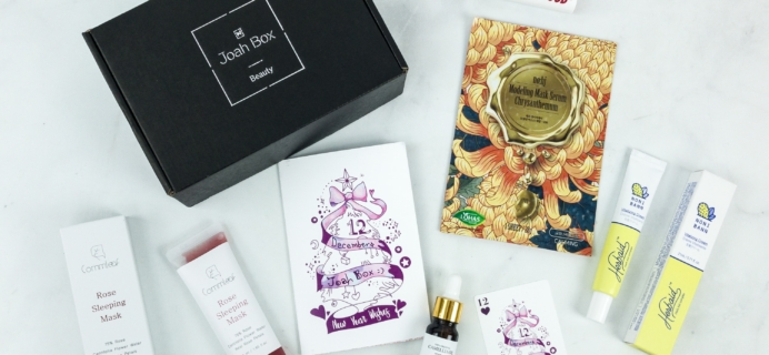 JoahBox December 2018 Subscription Box Review + Coupon