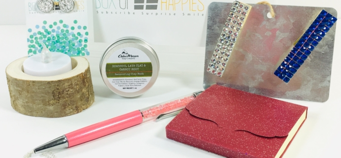 Box of Happies December 2018 Subscription Box Review + Coupon