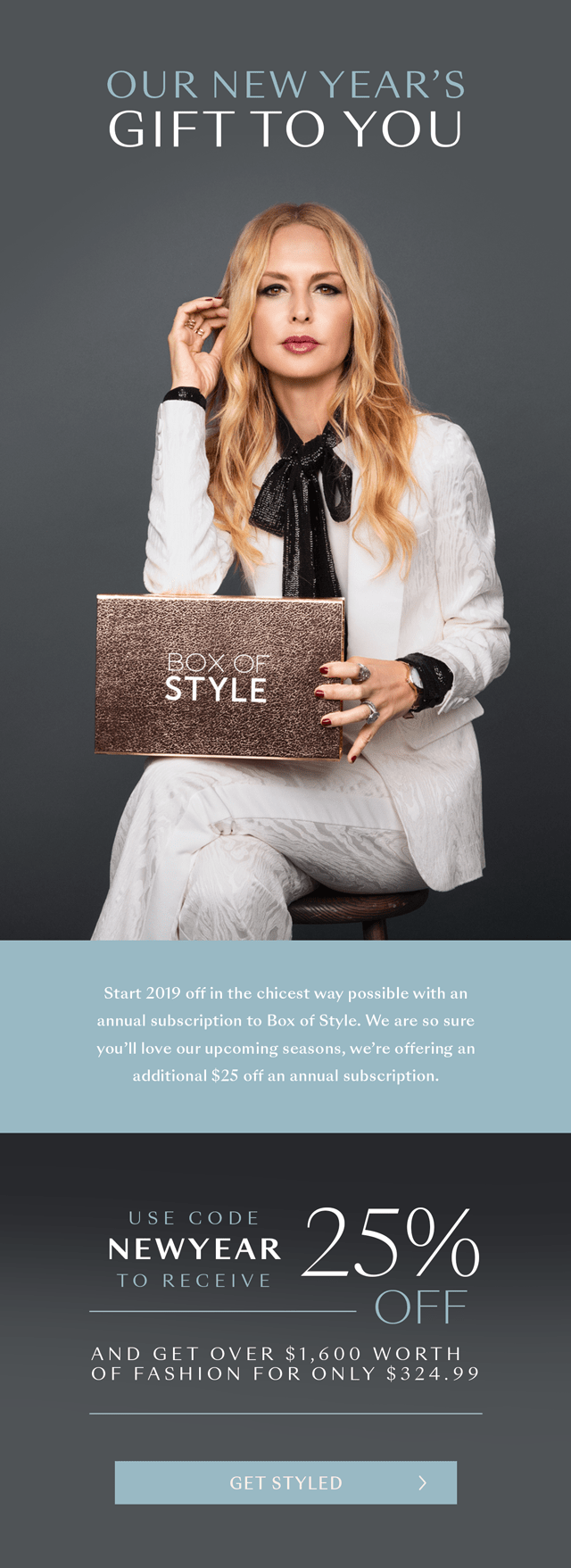 Box of Style by Rachel Zoe New Year Coupon: Get $25 Off On Annual Subscription!