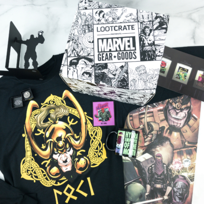 Marvel Gear + Goods November 2018 Subscription Box Review + Coupon!