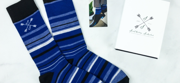 Southern Scholar January 2019 Men's Sock Subscription Box Review & Coupon