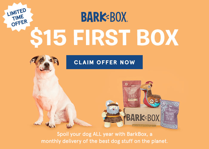 Barkbox Flash Sale: Get $14 Off Your First BarkBox- Now $15! LAST DAY!