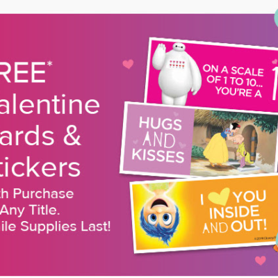 Disney Movie Club Sale: Get FREE Valentine Cards & Stickers + New Member 4 Movies for $1 Deal!