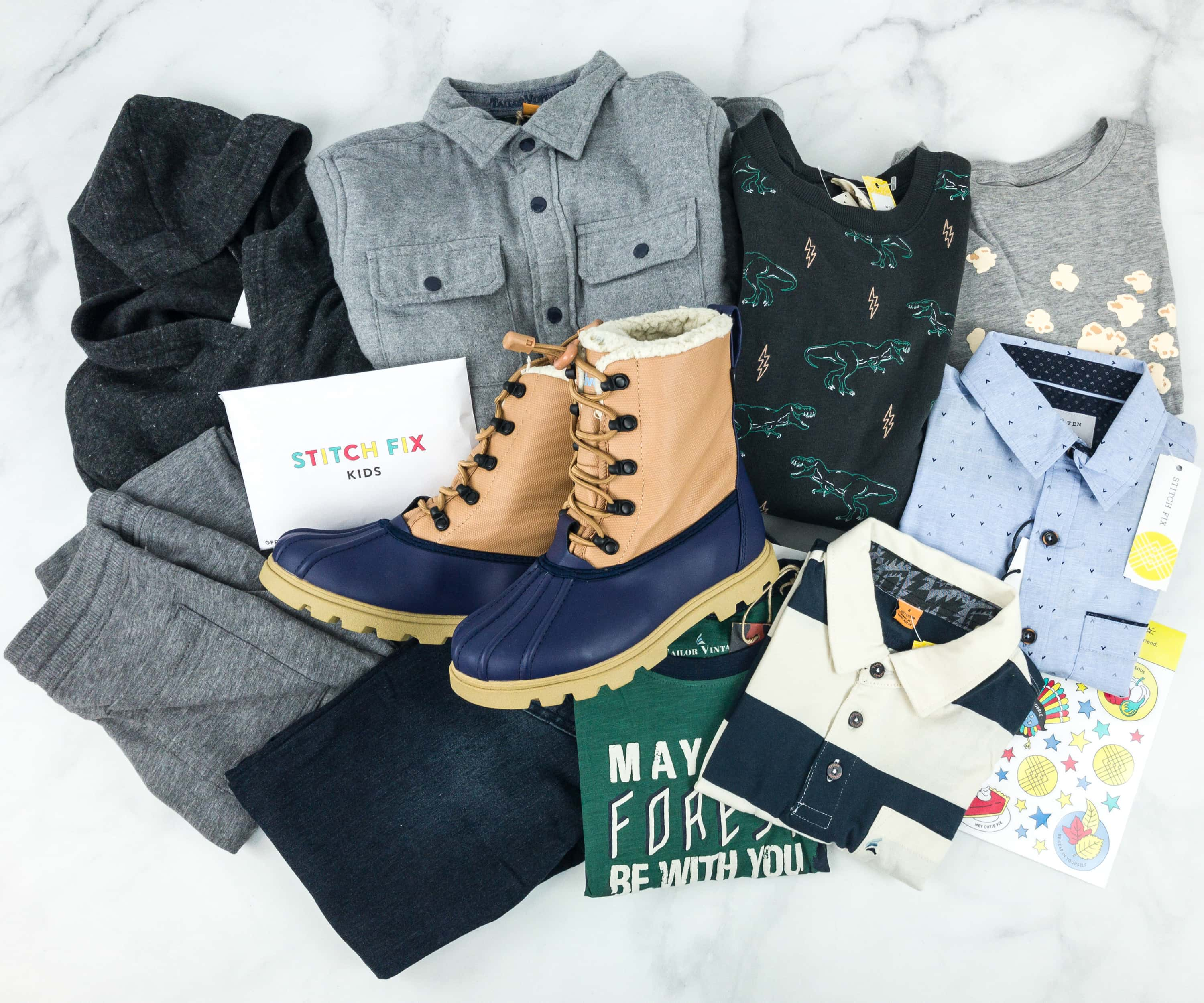 Stitch Fix Kids Review – Boys December 2018