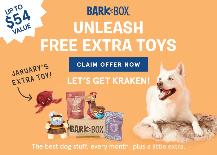 BarkBox Coupon: FREE Extra Toy Club!