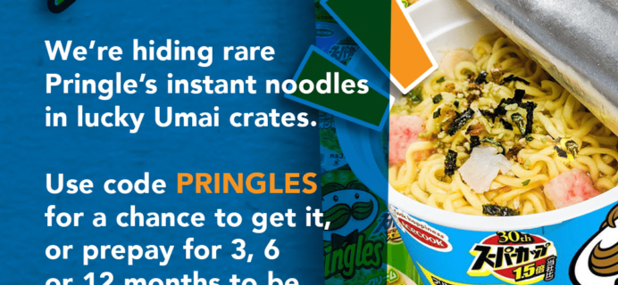 Umai Crate Coupon: Get BONUS Pringles Noodles With Your First Crate!