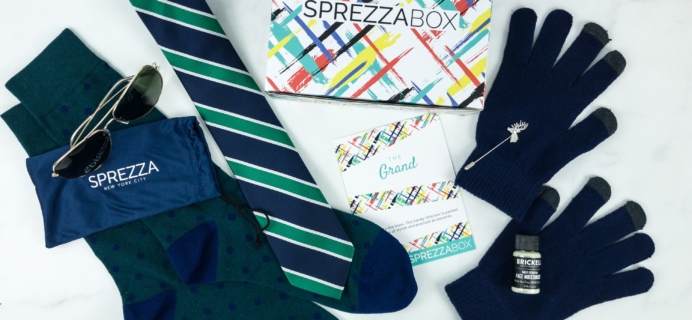 SprezzaBox January 2019 Subscription Box Review + Coupon