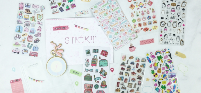 Stickii Club January 2019 Subscription Box Review – Cute Pack!