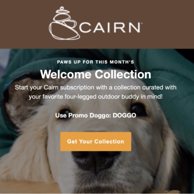 Cairn Coupon: Get The Welcome Dog-Friendly Collection As Your First Box!