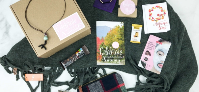 Rebecca Mail Deluxe Lifestyle Quarterly Subscription Box Review – Fall 2018