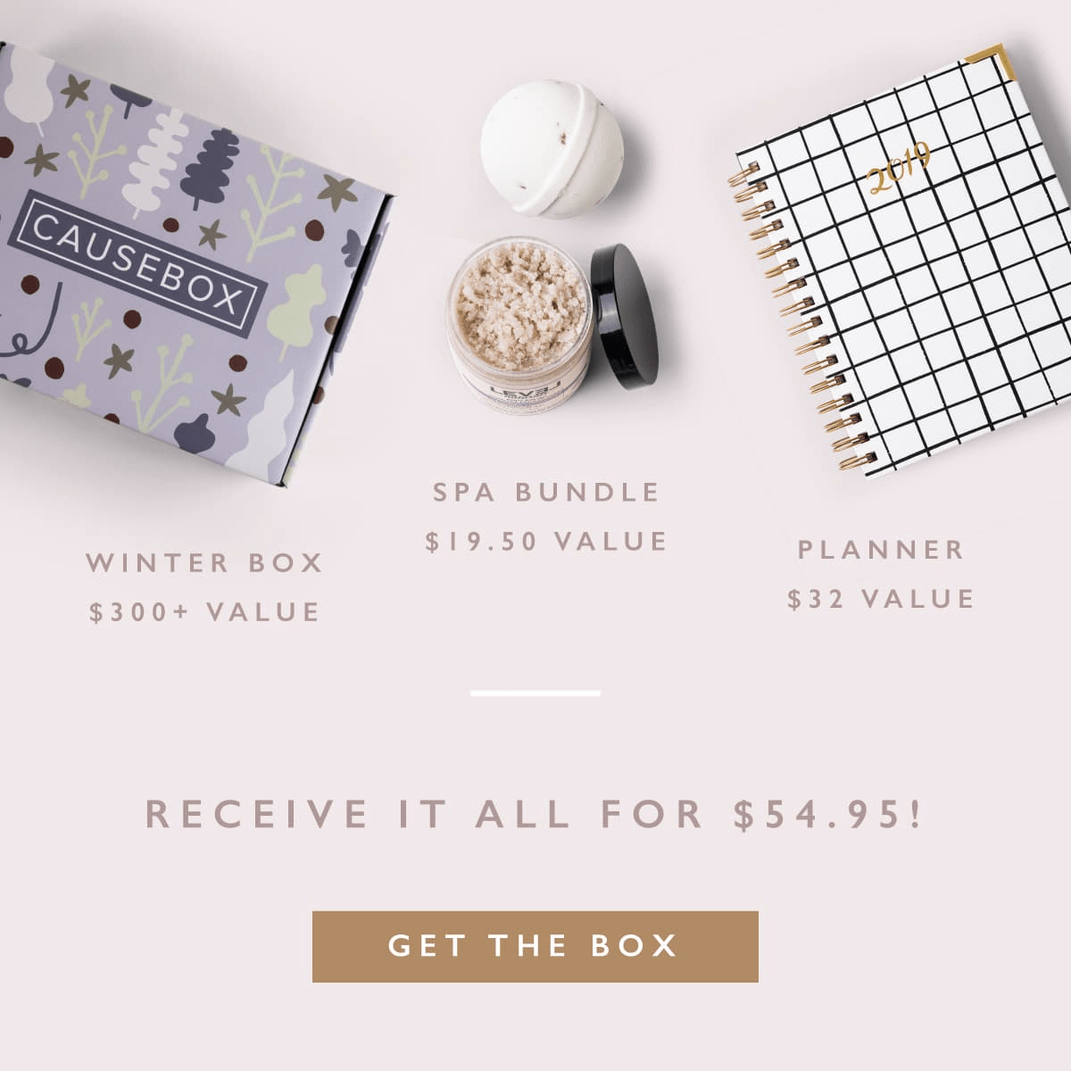 CAUSEBOX Flash Sale: Get FREE Spa Bundle & Planner With Your Winter 2019 Welcome Box! TODAY ONLY!