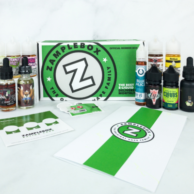 Zamplebox E-Juice January 2019 Subscription Box Review + Coupon!