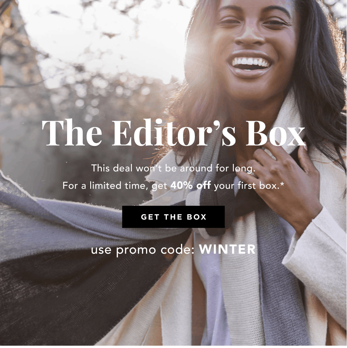 FabFitFun Box January 2019 Coupon Code: Save 40% on the Winter Editor's Box!